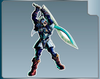 FIERCE Deity LINK Vinyl Decal from the Legend of Zelda Sticker for almost anything! Dark Link