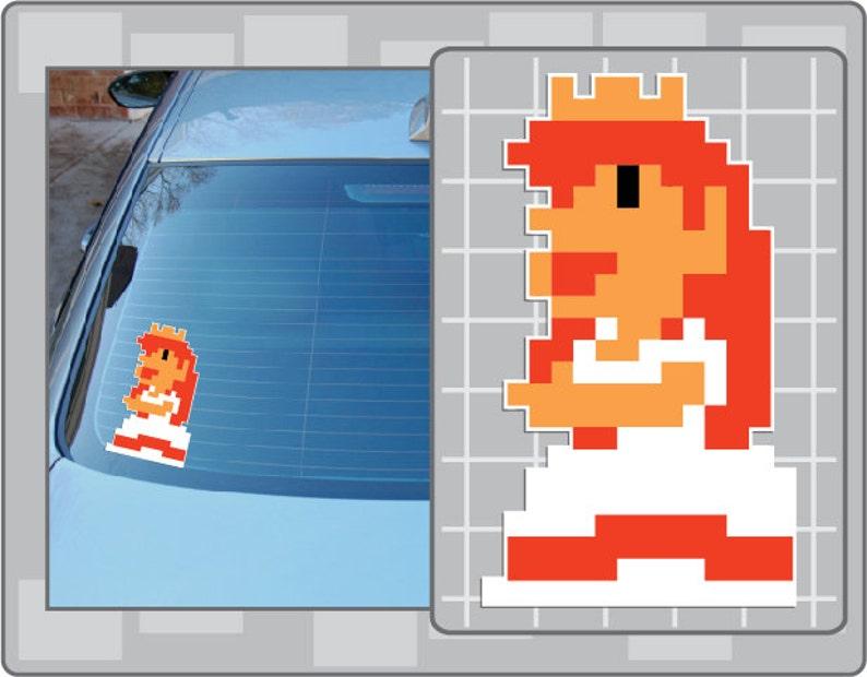 PRINCESS PEACH 8Bit Sprite Vinyl Decal No  1 from Super Mario Bros  NES  Sticker