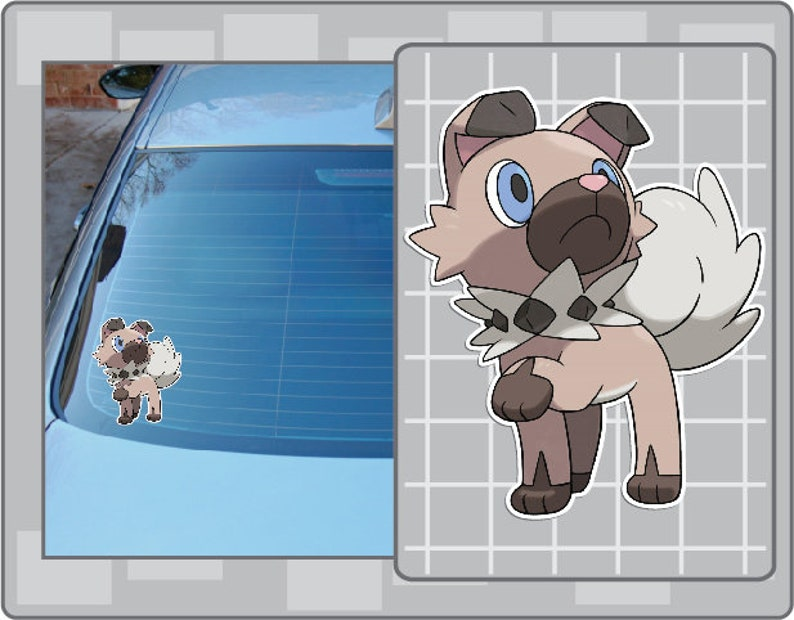 ROCKRUFF vinyl decal from Pokemon Sticker for Just about image 0