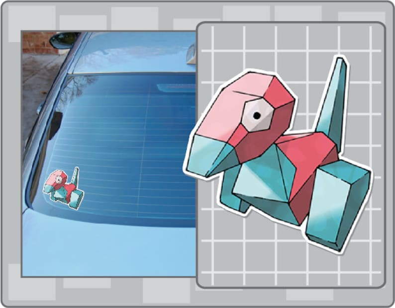 PORYGON vinyl decal No. 1 from Pokemon Car Window Laptop Decal image 0