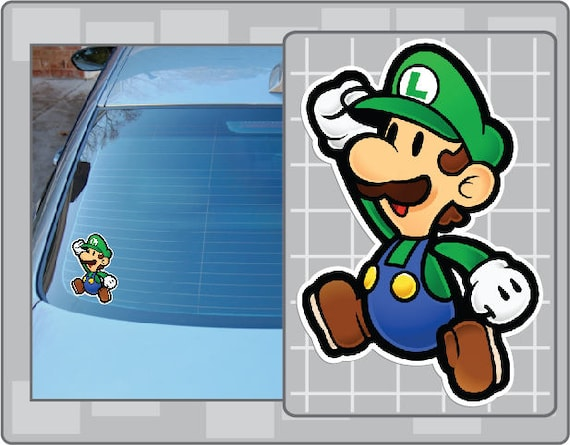 Paper Luigi Vinyl Decal From Super Mario Bros Paper Mario Sticker For Almost Anything