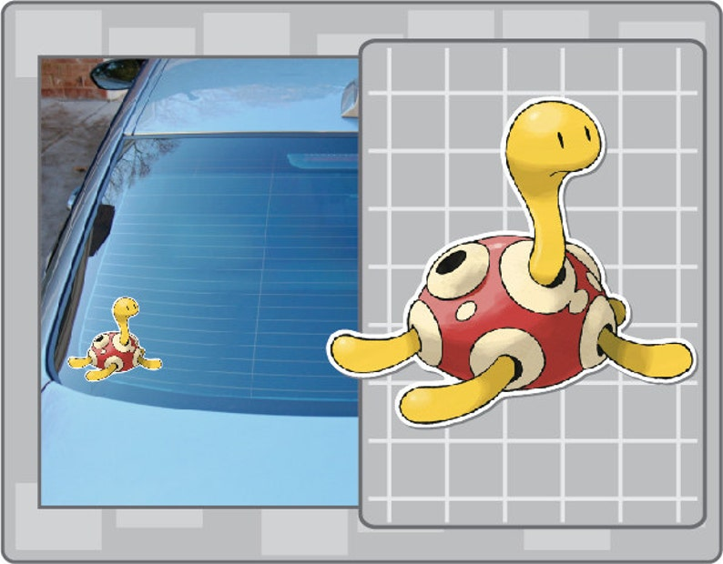 SHUCKLE vinyl decal No. 1 from Pokemon Car Window Laptop image 0