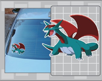 SALAMENCE vinyl decal from Pokemon Car Window Laptop Sticker for Almost Anything!