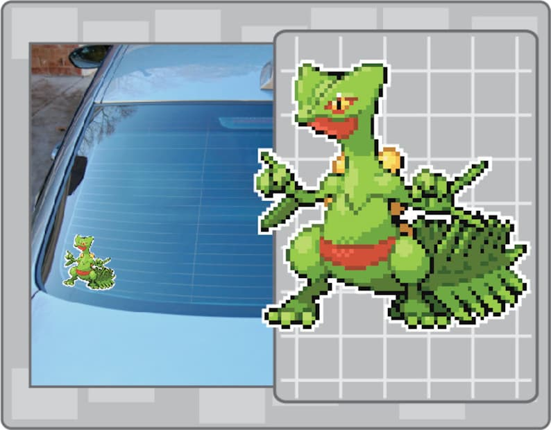 SCEPTILE Sprite vinyl decal from Pokemon Car Window Laptop image 0