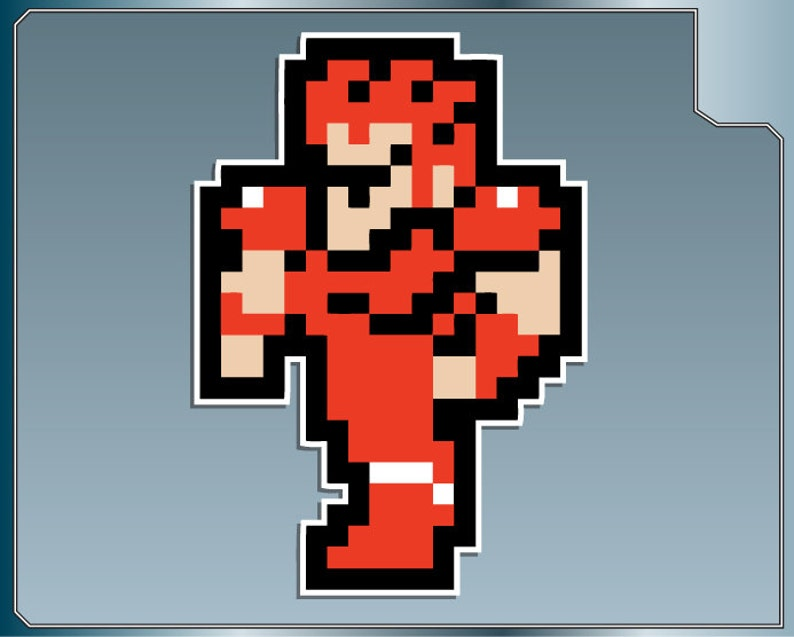 KNIGHT from Final Fantasy 8 Bit Sprite Vinyl Decal Classic NES image 0