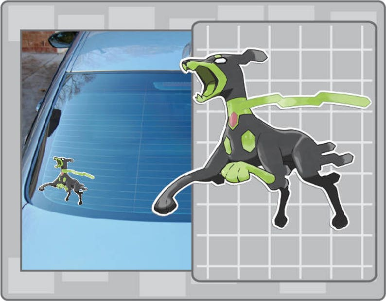 ZYGARDE 10% vinyl decal No. 1 from Pokemon Car Window Laptop image 0
