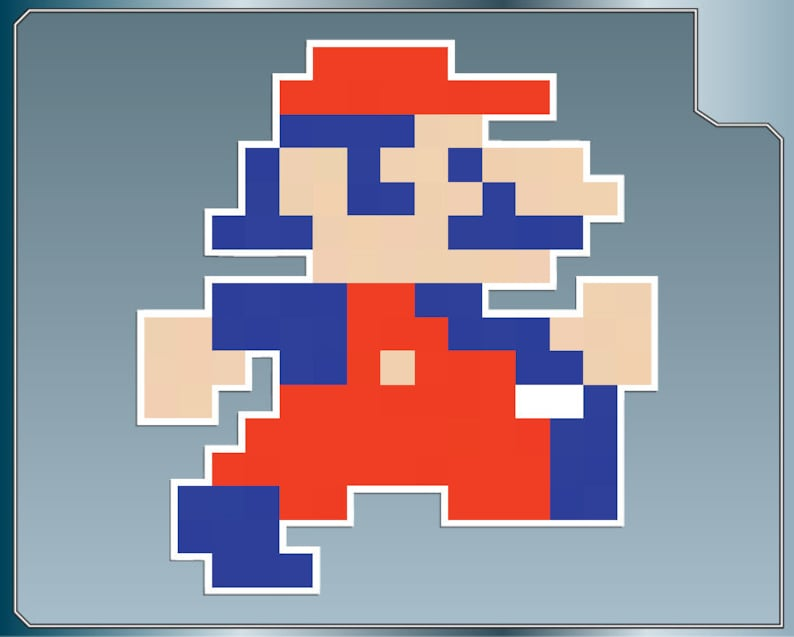 MARIO Sprite No  1 vinyl decal from Donkey Kong Sticker for Almost Anything!