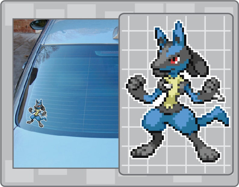 LUCARIO Sprite vinyl decal from Pokemon Sticker for Just about image 0