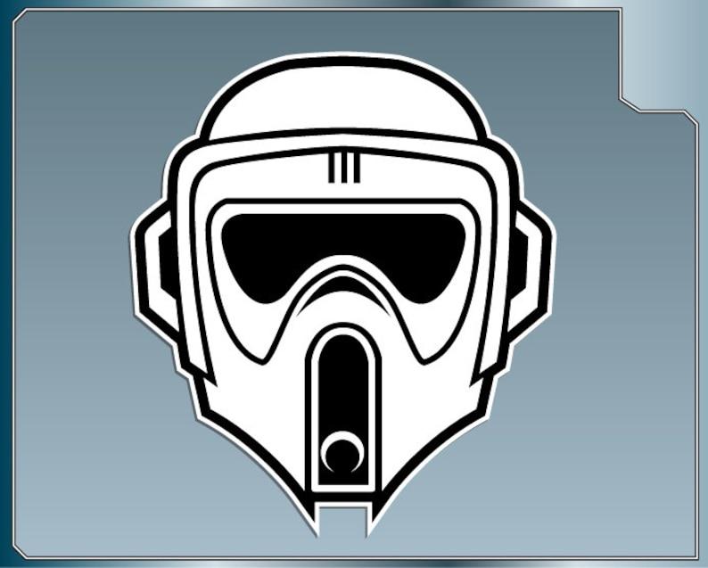 BIKER SCOUT Helmet vinyl decal from Star Wars Scout Trooper image 0