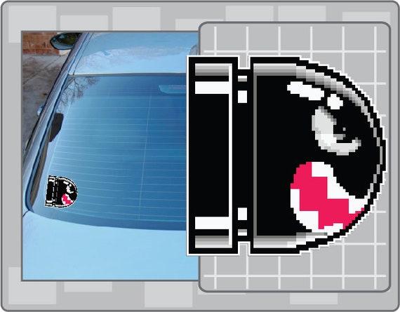 Banzai Bill Sprite Vinyl Decal From Super Mario Bros Sticker Etsy