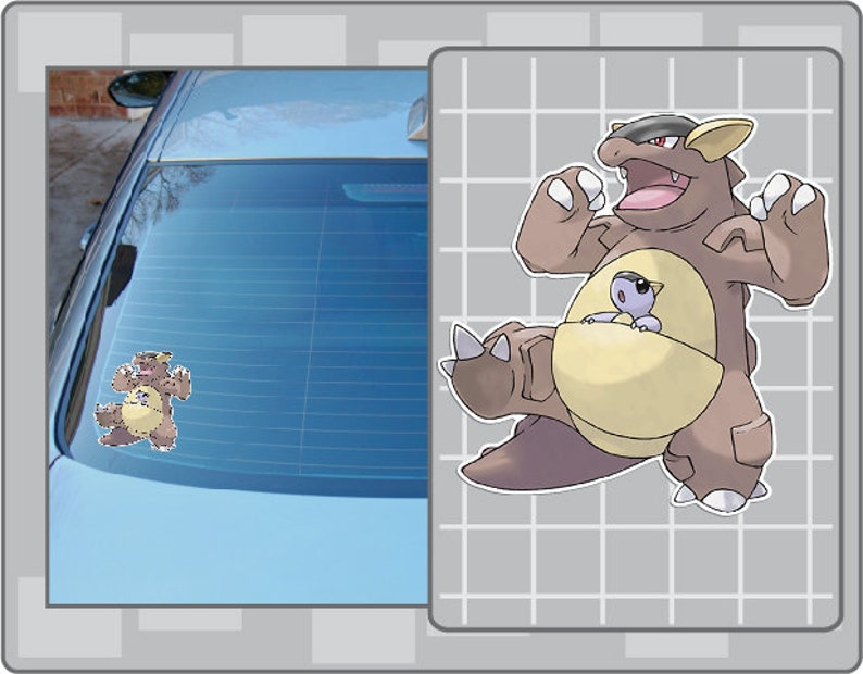 KANGASKHAN vinyl decal from Pokemon Car Window Laptop Decal image 0