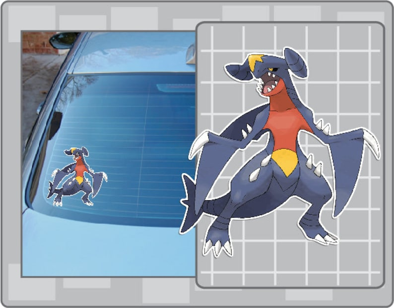 GARCHOMP vinyl decal from Pokemon Sticker for Just about image 0