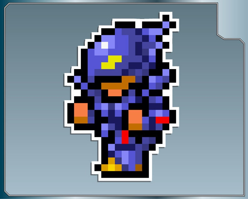 CECIL as Knight Sprite No. 1 from Final Fantasy IV 8 Bit Vinyl image 0