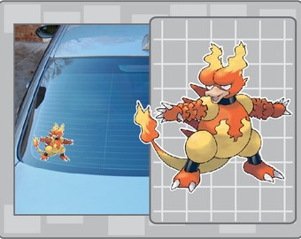 MAGMAR vinyl decal from Pokemon Sticker for Just about Anything!