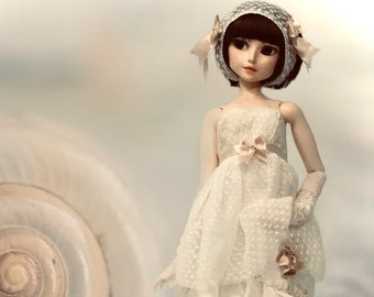 """BJD clothing premium designer collector edition """"Sky Tales"""" comes with mini book and certificate of authenticity. 8 piece outfit"""