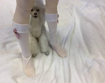 BJD clothes stockings Pink ribbon