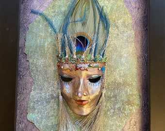 BJD mask, doll mask, BJD costume, miniature sculpture Venetian mask