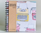 Square Notebook - Typewriters (Sketch book, scrapbooking, drawing, doodles)