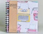Square Notebook - Typewriters (Sketch book, scrapbooking, drawing, doodles)