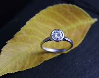 Items similar to Moissanite Ring, Rose Gold Engagement Ring , Unique