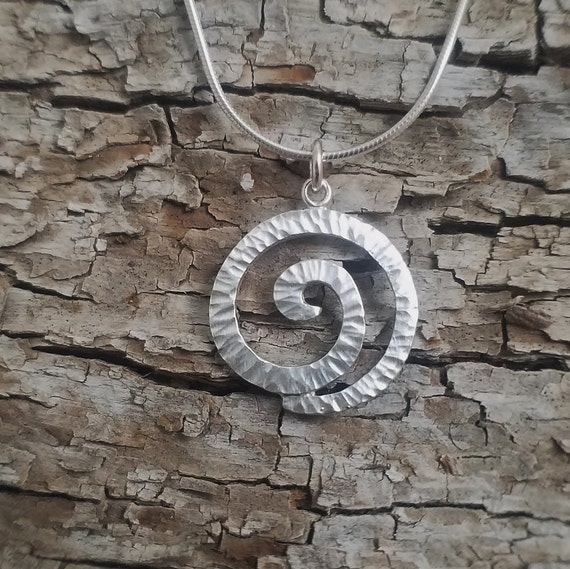 Sterling Silver Swirl Pendant