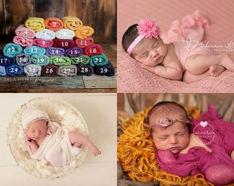 Best Price Newborn Baby Wrap, Cheesecloth Gauze Wraps, Newborn Photography Wraps, Blush Pink Cheesecloth Wrap, Ivory Baby Wrap, Blue Wraps