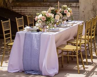 Gray Wedding Table Runner, BOHO Wedding Reception, Rustic Table Runner, Wedding 2022 Table Runner, Grey Table Gauze, Cheesecloth Runner