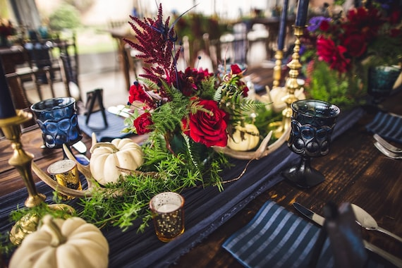 Navy Blue Table Runner Gauze Runner In Blue Barn Wedding Cheesecloth Table Runner Rustic Wedding Bridal Table Gauze Wedding Table Runner