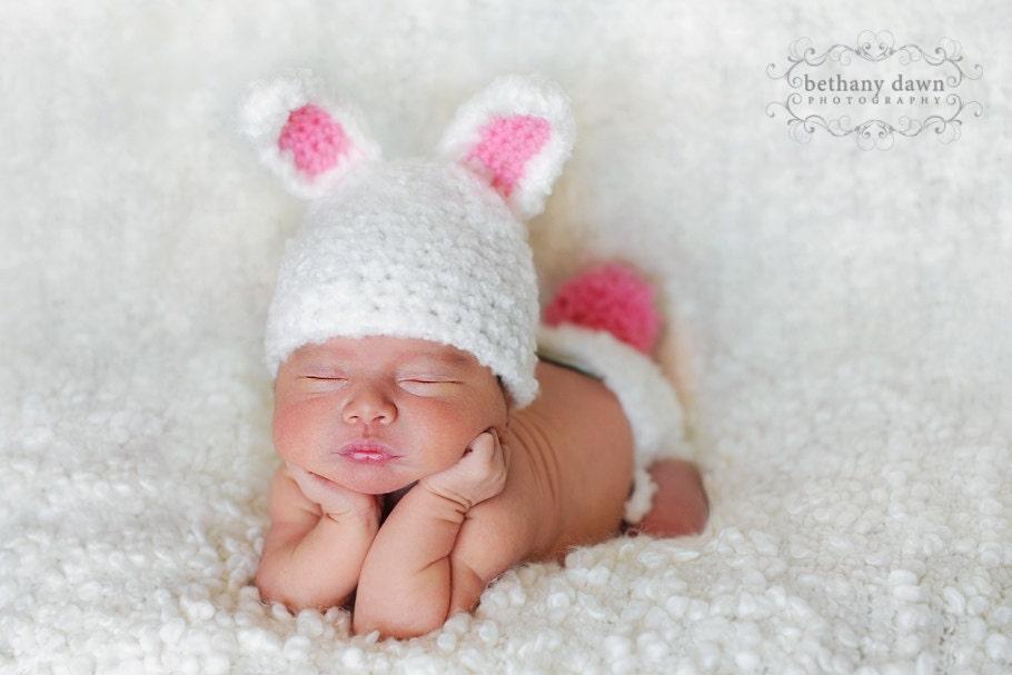 Crochet Bunny Hat Pattern Diaper Cover Pattern Newborn Hat Pattern