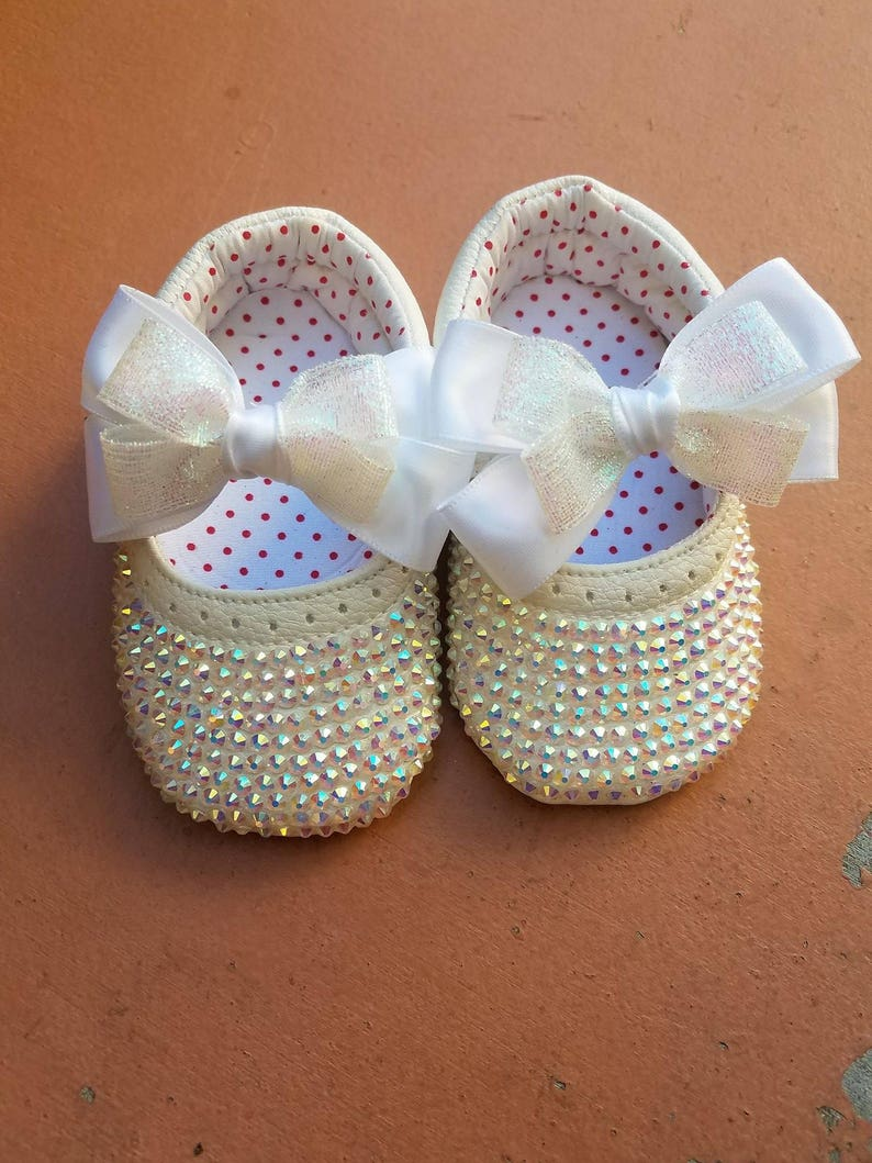 baby Baby christening Shoes baptism christening Bedazzeled shoes birthday Fancy Shoes Bling Sparkle Bling girl shoes wedding parties