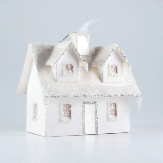 Cape Cod Paper Glitter House Ornament