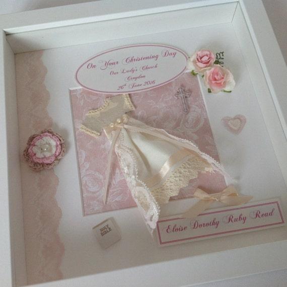 Personalised Luxury NEW BABY Girl Keepsake Book BOXED Christening Baby Shower