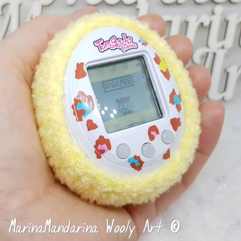 Tamagotchi M!X mix 4U iDL P/'s color Friends case crochet by MarinaMandarina Fluffy Easter egg case