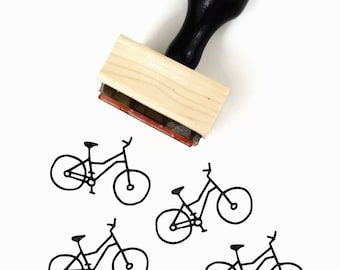 Rubber Stamp Cyclist's Bicycle | Bike Bicyclist Biking Stamp