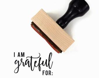 I Am Grateful For Stamp | Planner Stamp | Bullet Journal Stamps | Bujo Planner Stamps | Gratitute Journal | Rubber Stamp by Creatiate | BJ
