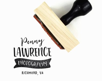 Custom Business Stamp | Photography Business Name + Location Stamp | Custom Business Rubber Stamp