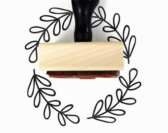 Rubber Stamp Olive Branch | DIY Flourish Border Packaging Stamp