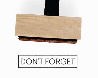 Don't Forget Stamp | Minimalist Task Journal Stamp | Gift for Simple Planners + Calendars | Wood Mounted Rubber Stamp by Creatiate | BJ1
