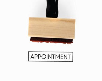 Appointment Stamp | Appt Planner Idea for Minimalist Journaling Schedule Scheduler Tracking | Wood Mounted Rubber Stamp Creatiate | BJ1