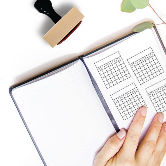 Habit Tracker Stamp Perpetual Calendar Goal Planner
