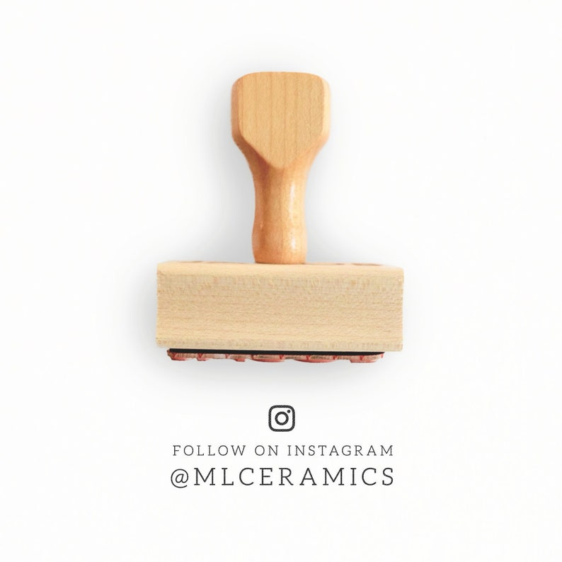 Custom Social Media Stamp | Follow Me On Instagram Stamp | Simple Product  Packaging Stamp | Packaging Rubber Stamp | Simple Branch Stamp