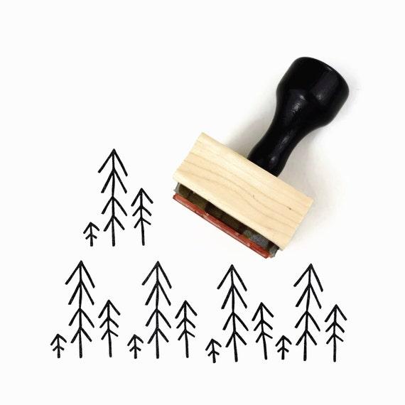 Minimalist Pine Tree: Simple Trees Stamp Holiday Stamps Minimalist Christmas