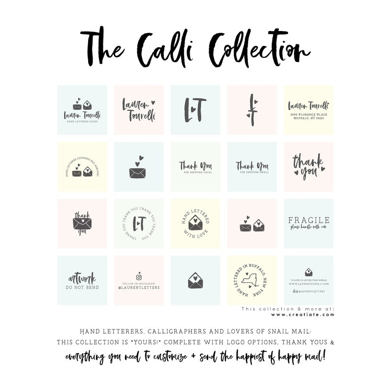Shop Local Thank You For Shopping Local Stamp Wood Mounted Rubber Stamp for Small Business Packaging by Creatiate The Calli Collection