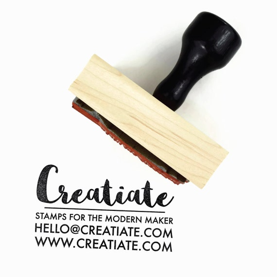 Custom business card rubber stamp customized personalized etsy image 0 colourmoves