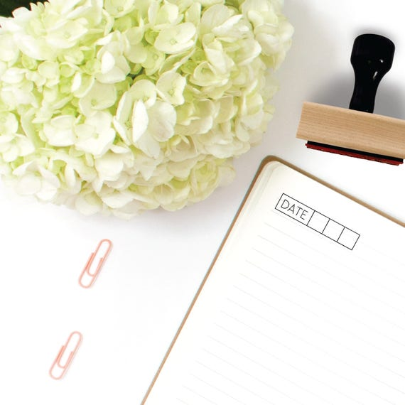 Date Stamp Planner Stamps Bullet Journal