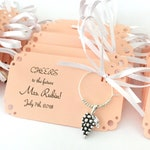1 to 50 wine charm favors for vineyard themed event: Perfect Gift for vineyard wedding favors & Bridal Shower Favors. Fully Customized.