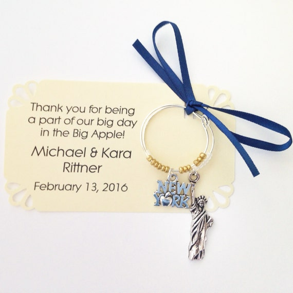 New York City Themed Wine Charm Favors Party Favor For New Etsy