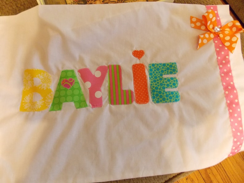 Personalized Pillowcases-School Names Summer Camp Slumber parties Birthday parties Name pillowcase