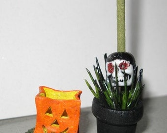 Dollhouse Miniature Halloween Accessories