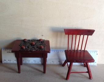 Dollhouse Miniature Table & chair